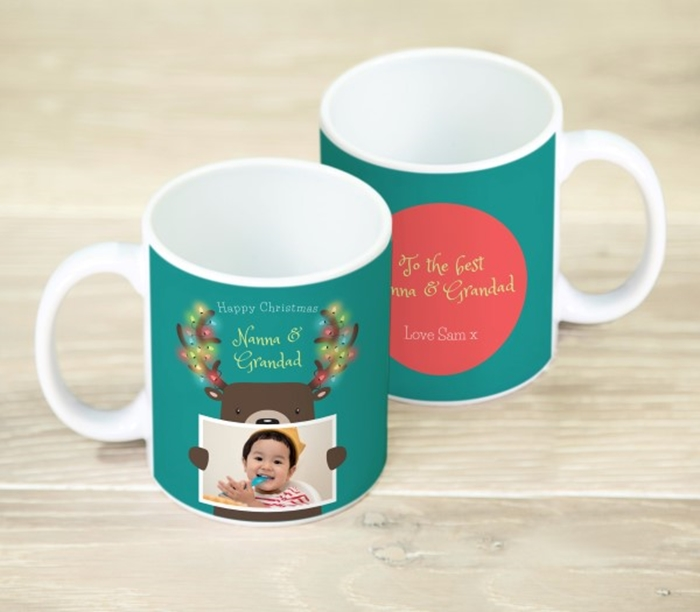 Picture of Happy Christmas reindeer personalised mug