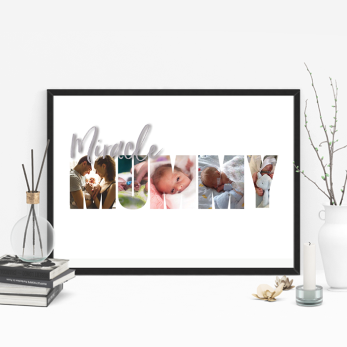 Picture of A3 Miracle Mummy photo personalised poster