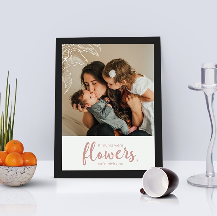 Picture of A4 if you were a flower personalised poster