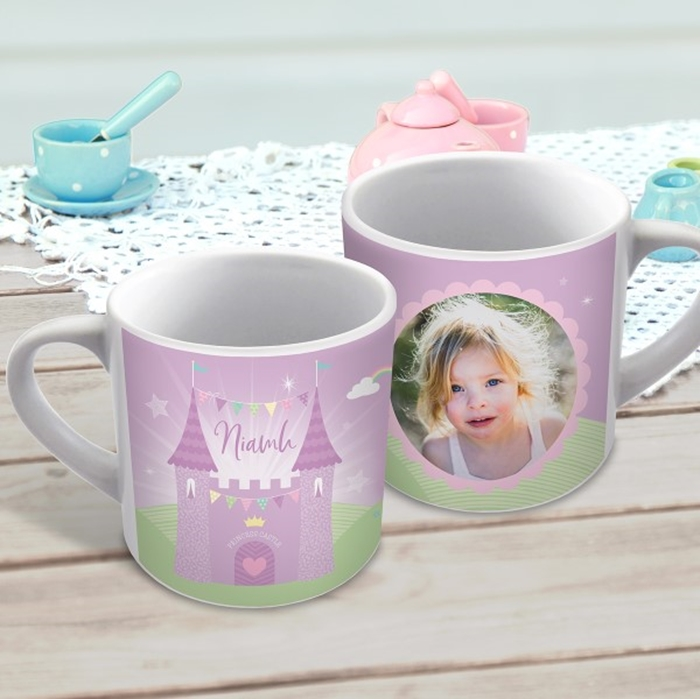 Picture of PRINCESS CASTLE child's photo personalised mug