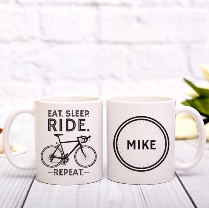 Picture of Eat. Sleep. Ride. Repeat. personalised mug