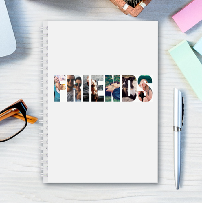 Picture of A5 Friends hardcover spiral notebook