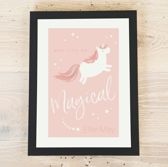 Picture of A4 magical unicorn personalised poster