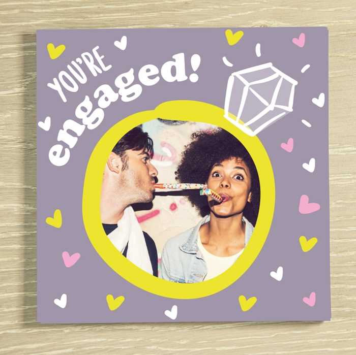 Picture of You're engaged personalised chocolate card