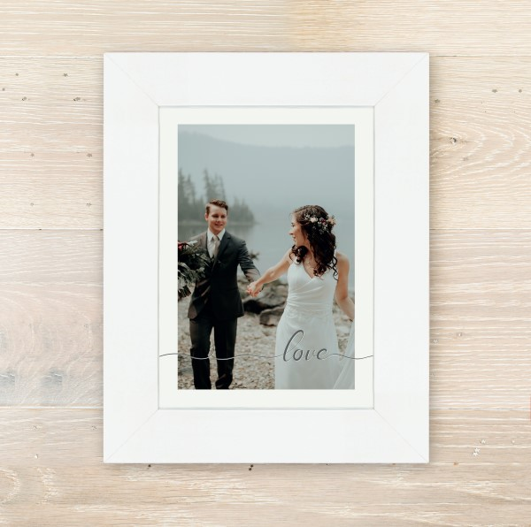 Picture of A5 love script personalised poster