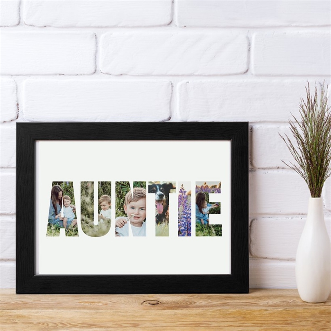 Picture of A4 Auntie Photo personalised poster