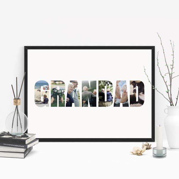 Picture of A3 Grandad photo personalised poster