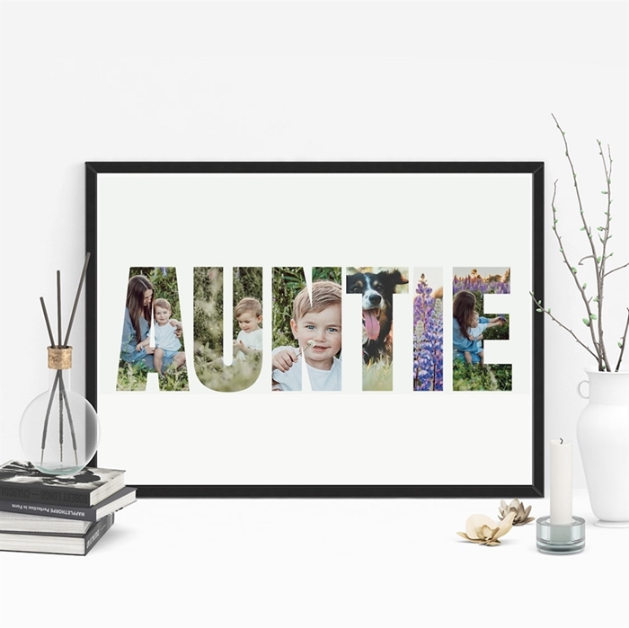 Picture of A3 Auntie Photo personalised poster