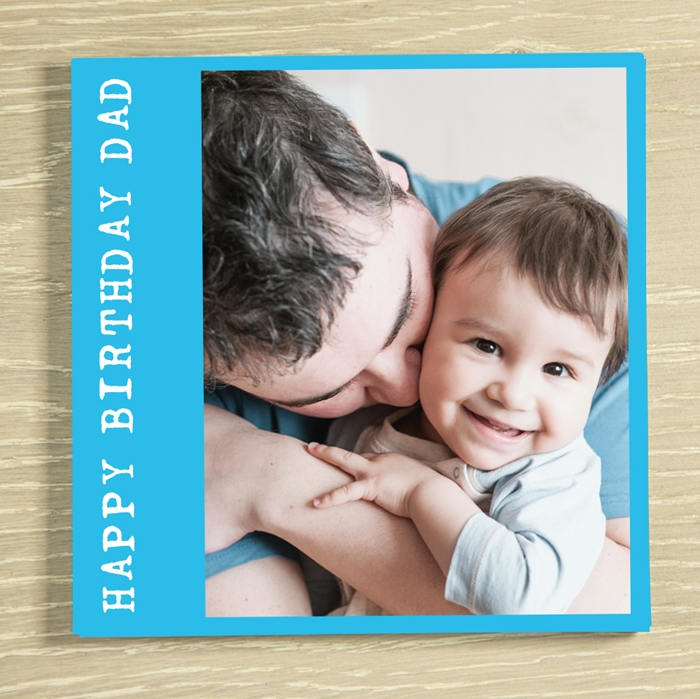 Picture of Happy Birthday Dad personalised chocolate card