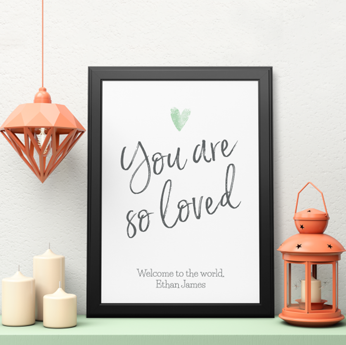 Picture of A3 You are so loved personalised poster