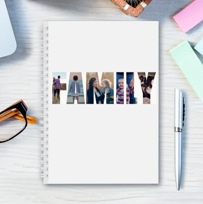 Picture of A5 Family hardcover spiral notebook