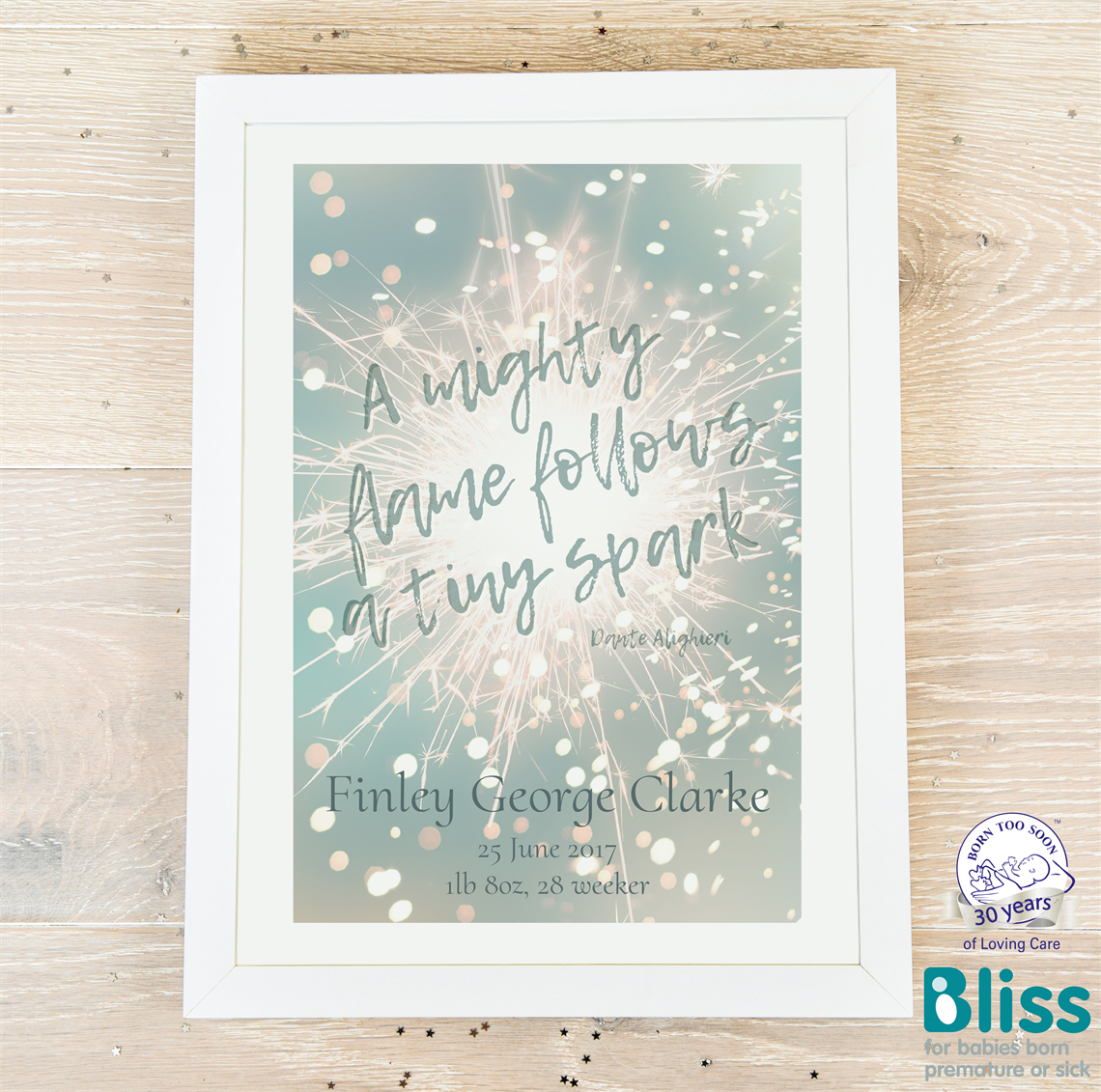 Picture of A tiny spark personalised poster