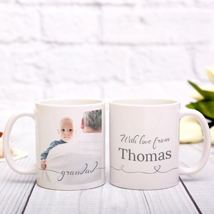 Picture of Grandad Script personalised mug