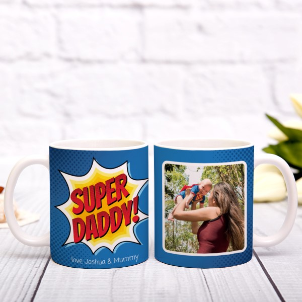 Picture of Super Daddy personalised mug
