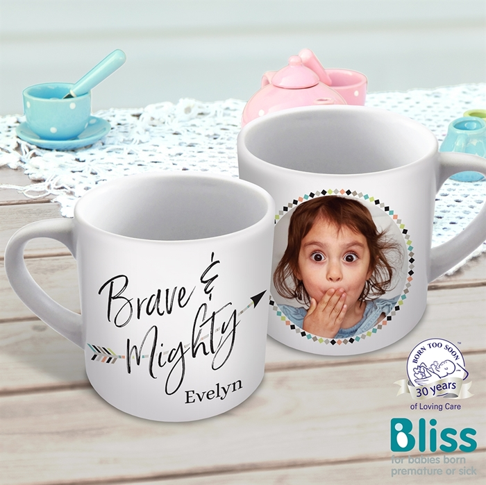 Picture of Brave and mighty child's personalised mug