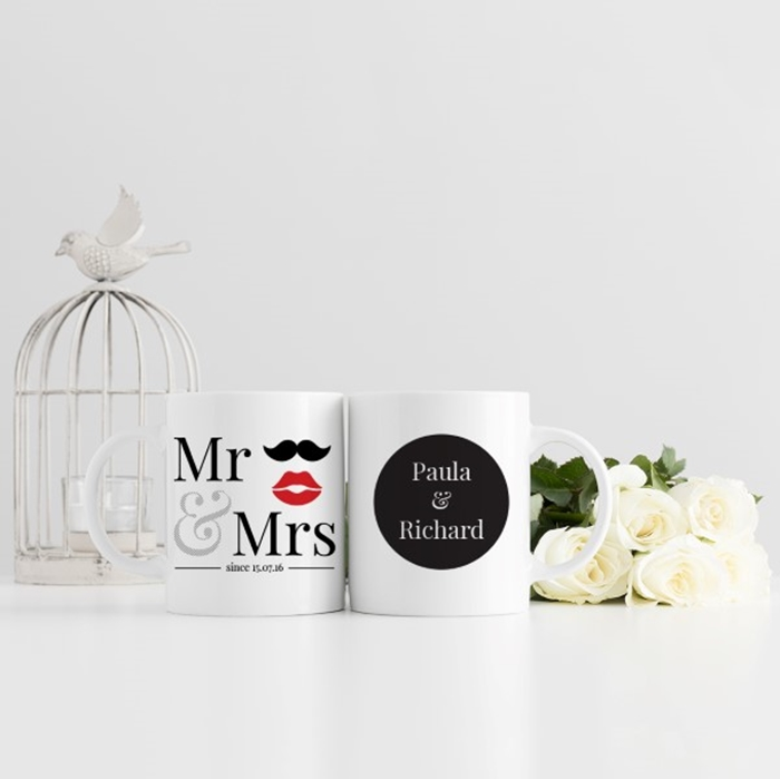 Picture of Mr & Mrs Wedding Personalised Mug