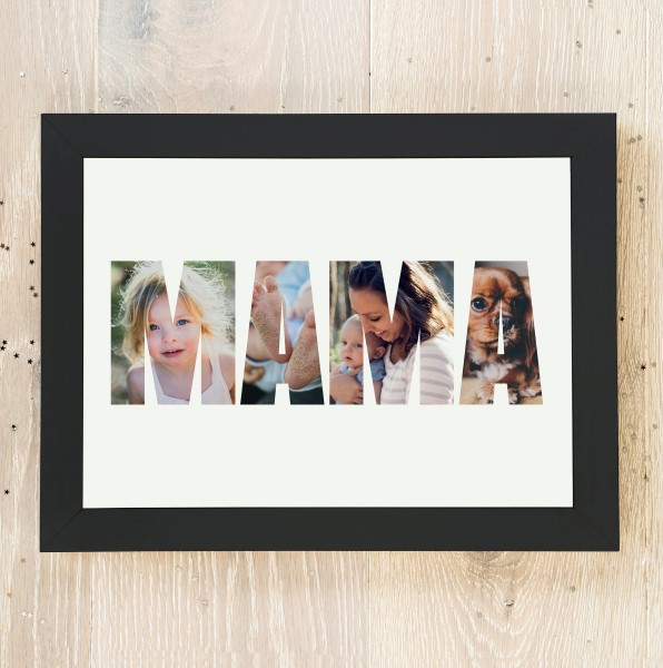 Picture of A3 Mum photo personalised poster