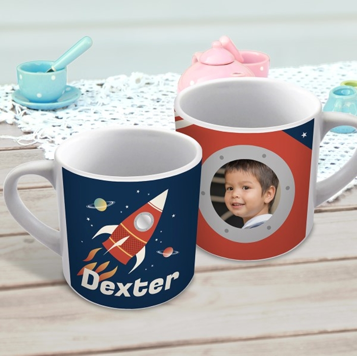 Picture of Rocket child's photo personalised mug