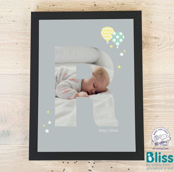Picture of A4 Baby Alphabet 'R' personalised poster