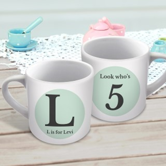 Picture of Initial child's personalised mug