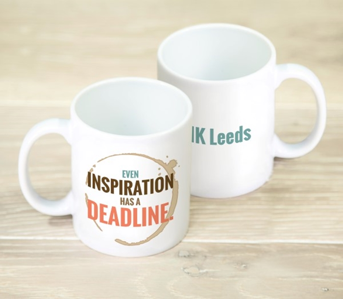 Picture of Even inspiration has a deadline Personalised Mug