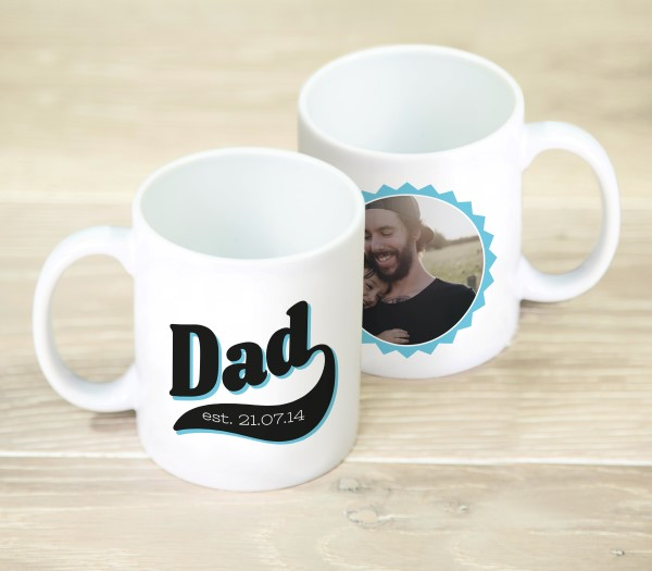Picture of Dad photo personalised mug