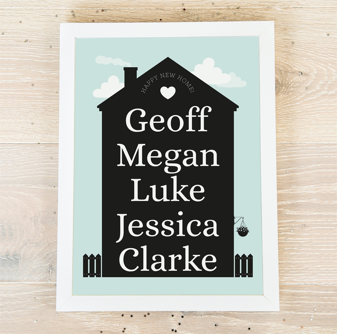 Picture of A4 New Home personalised poster
