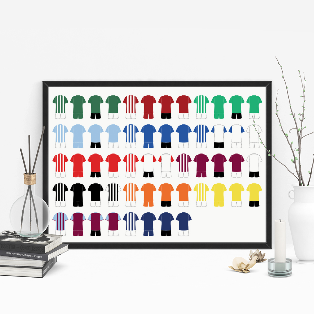 Picture of A5 football kit family personalised poster
