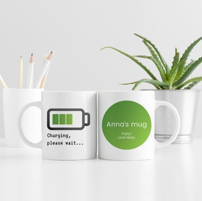 Picture of Charging up personalised mug