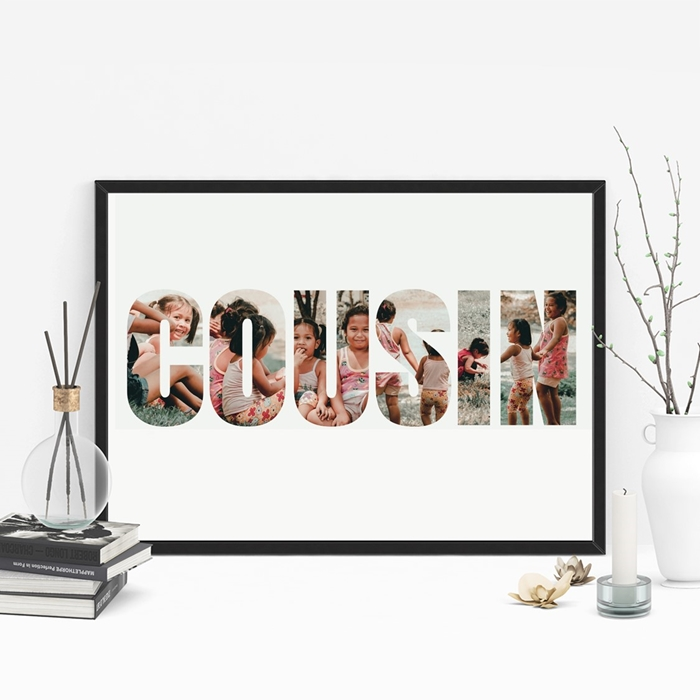Picture of A3 Cousin Photo personalised poster