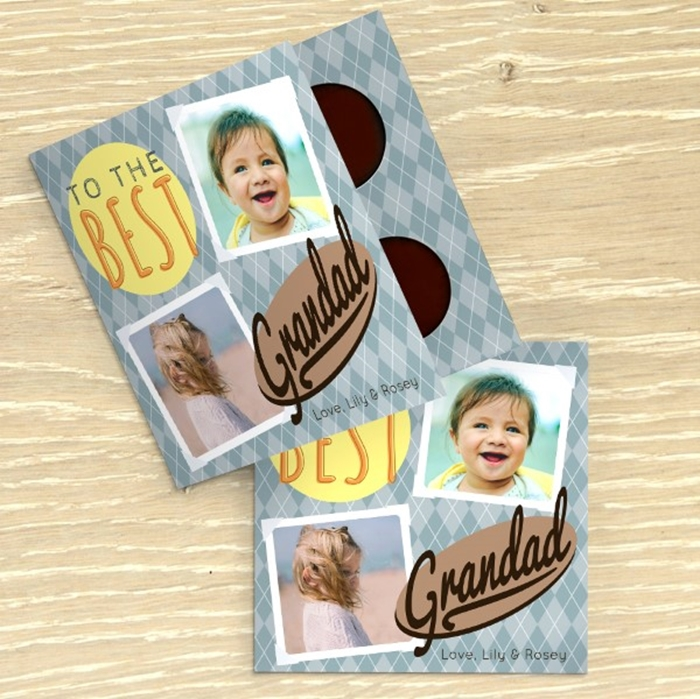 Picture of Best Grandad personalised chocolate card