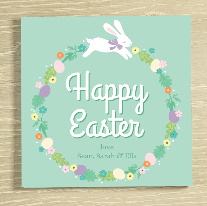Picture of Easter Bunny personalised chocolate card