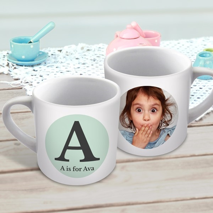 Picture of Initial child's photo personalised mug