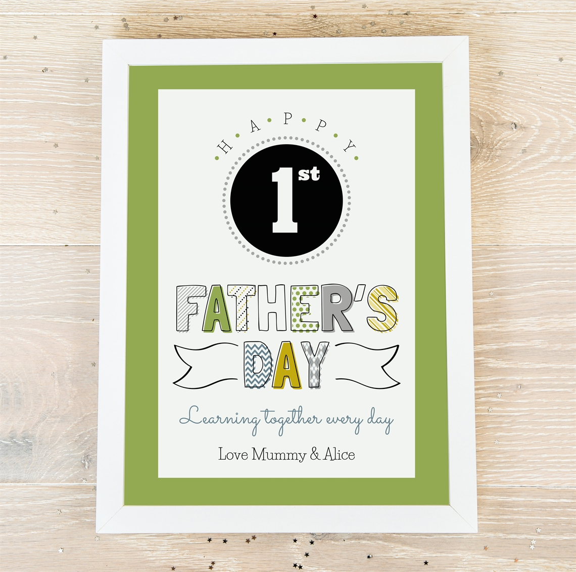 Picture of 1st Father's Day personalised poster