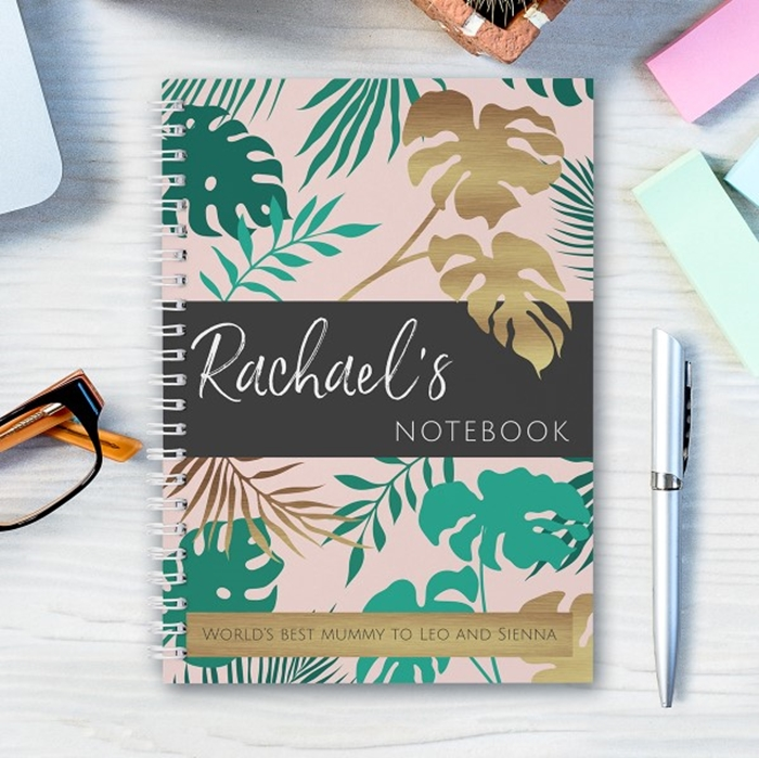 Picture of A5 contemporary floral hardcover spiral notebook
