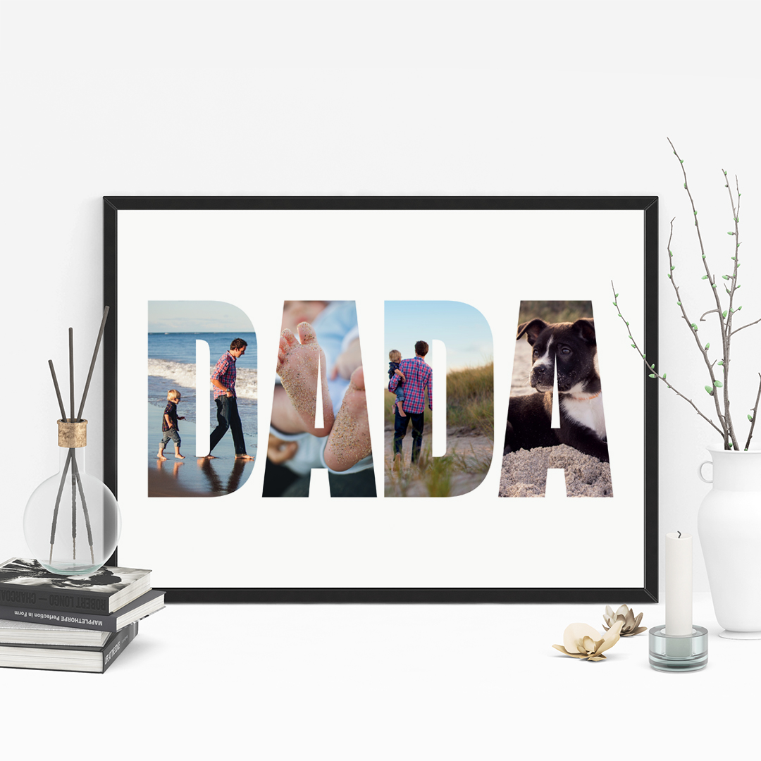 Picture of A3 Dada photo personalised poster