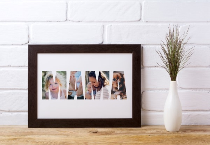 Picture of A4 Mama photo personalised poster