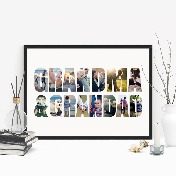 Picture of A3 Grandma & Grandad Photo personalised poster