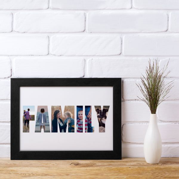 Picture of A4 WOW Family Photos personalised posters