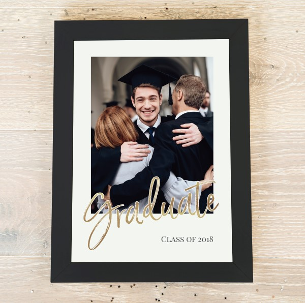 Picture of A3 Gold-effect Graduate script personalised poster