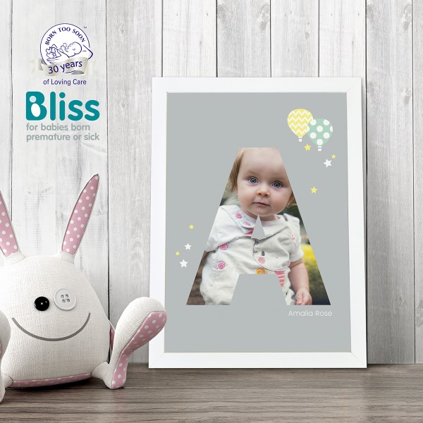 Picture of A4 Baby Alphabet 'A' personalised poster