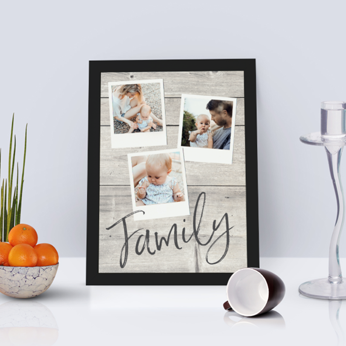 Picture of A4 Family pics personalised poster