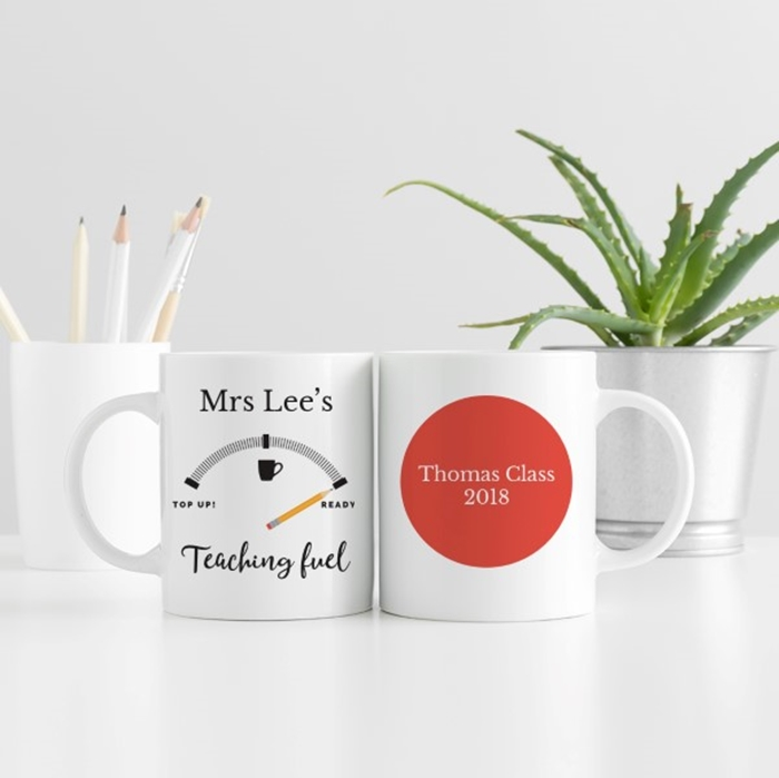 Picture of Teacher fuel personalised mug