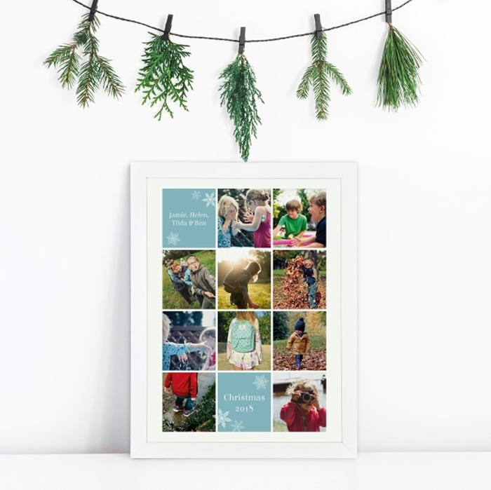 Picture of Festive A4 Instagram-style photo personalised poster
