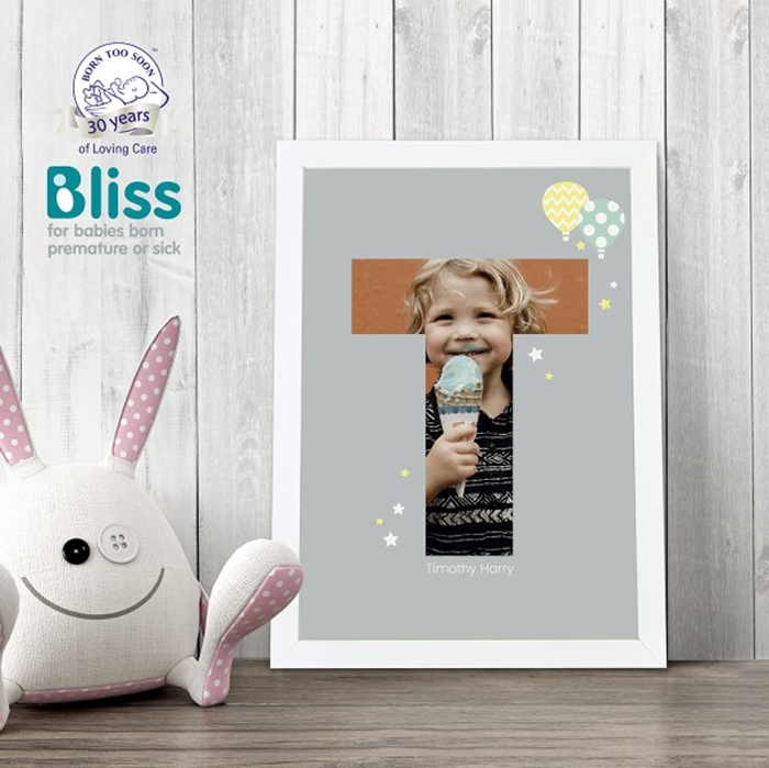 Picture of A4 Baby Alphabet 'T' personalised poster