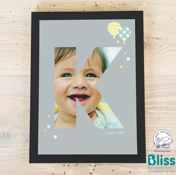 Picture of A4 Baby Alphabet 'K' personalised poster