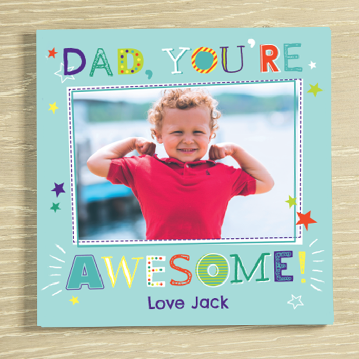 Picture of Awesome Dad personalised chocolate card