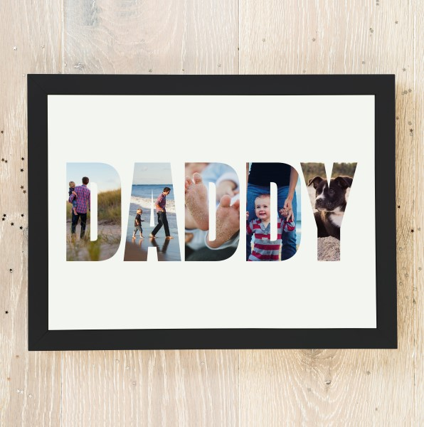 Picture of A4 Daddy photo personalised poster