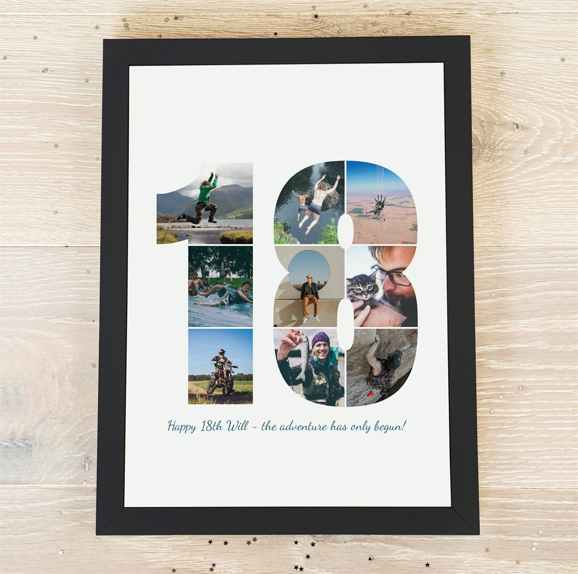 Picture of A3 18 year photo personalised poster