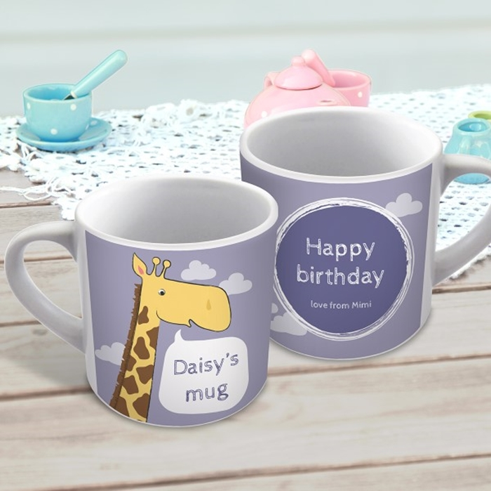 Picture of Giraffe child's personalised mug